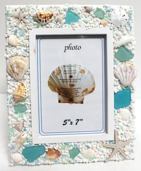 5x7 Sea Glass Frame