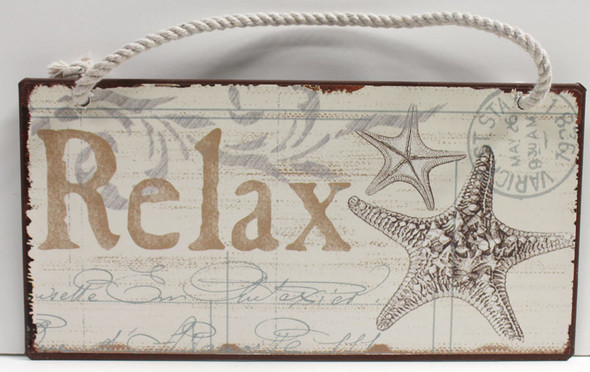 Relax Sign with Starfish