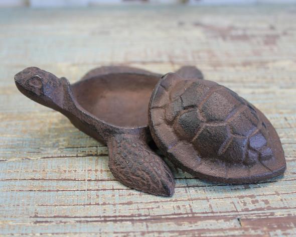 Open Iron Turtle Box
