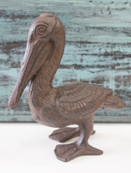 Brown Iron Pelican Figure
