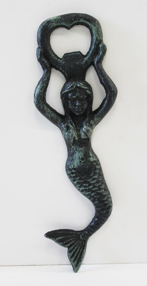 Green Iron Mermaid Bottle Opener