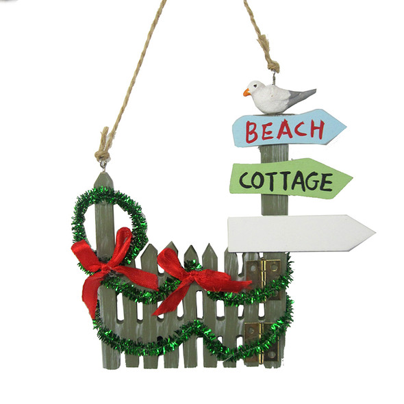 Christmas Picket Fence Ornament
