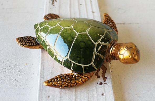 Green & Gold Turtle Figurine