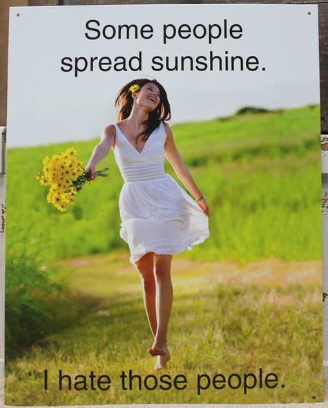 Spread Sunshine Metal Sign