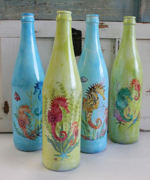 Decorative Seahorse Glass Bottles