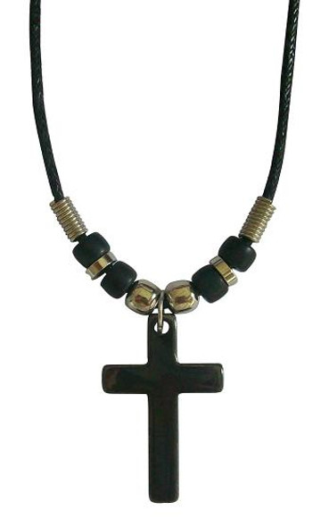 Cross Pendant Cord Necklace