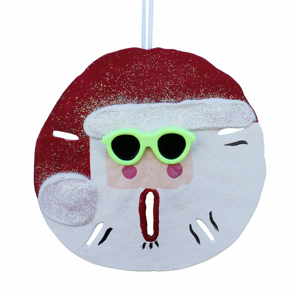 Green Sunglasses Sand Dollar Santa Claus