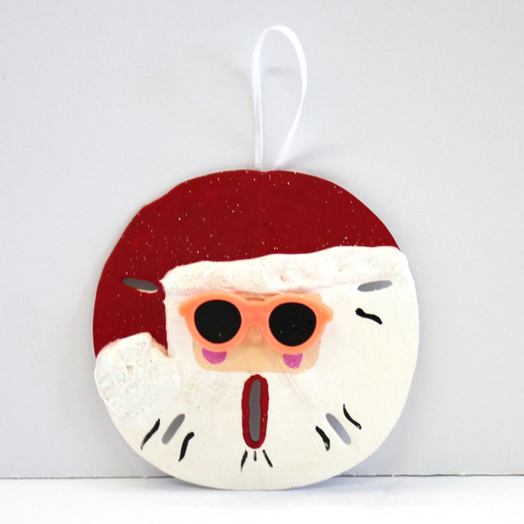 Hand-Crafted Sand Dollar Santa