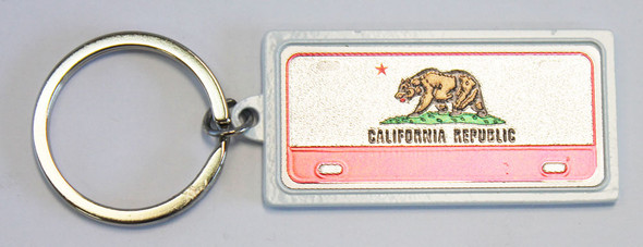 Metal License Plate Keychain