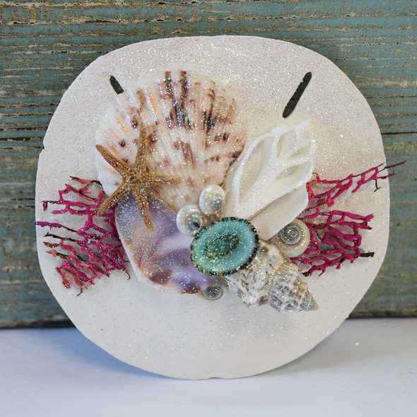 Keyhole Sand Dollar Sea Fan Collage Magnet