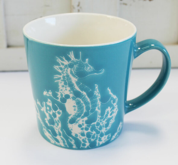 Sea Horse Ceramic Coffee Mug