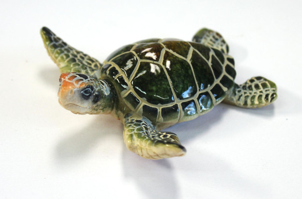 "3.5"" small green sea turtle"