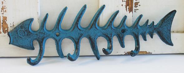 Blue Fish Bone Hook