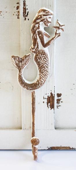 Brown & White Mermaid Profile Hook