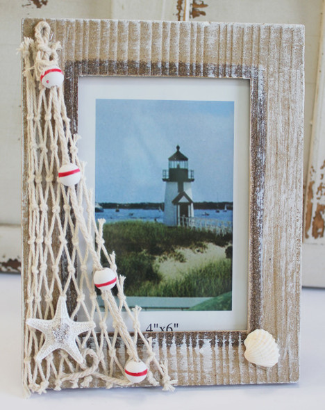 Wood 4x6 Nautical Picture Frame