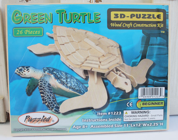 Wood Sea Turtle 3D Puzzle