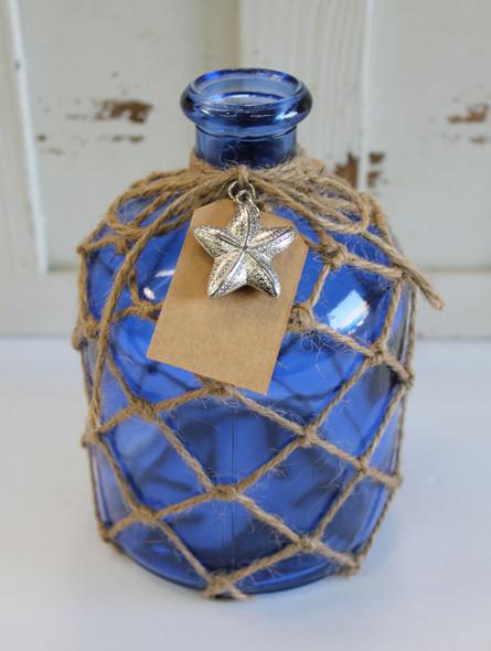Blue Round Bottle