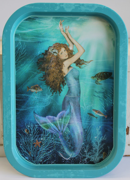 Sea Blue Magic Mermaid Food Safe Tray