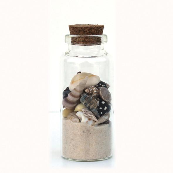 White Beach Bottle Magnet