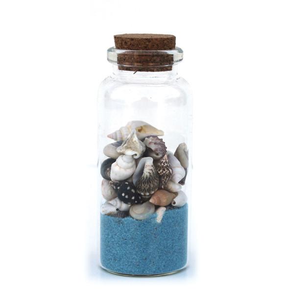 Light Blue Beach Bottle Magnet