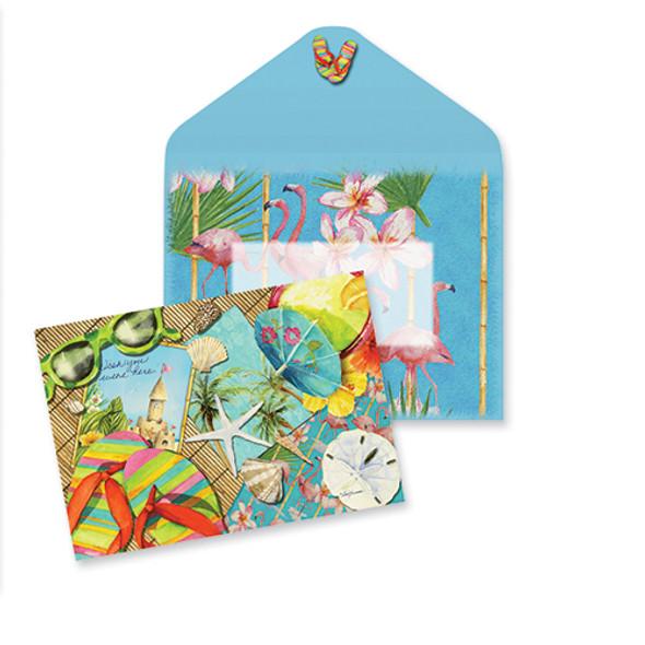 Retro Beach Note Cards