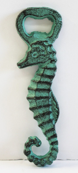 Green Sea Horse Bottle Opener
