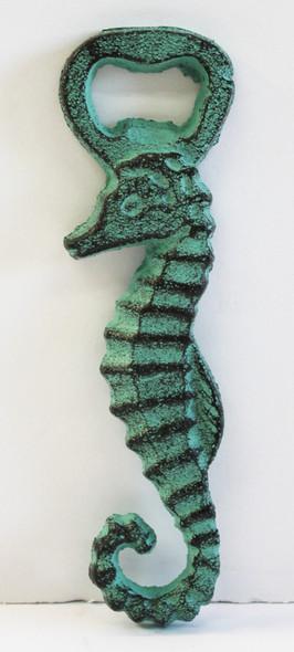 Green Sea Horse Bottle Opener