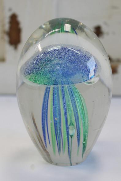 Blue Green Glass Jellyfish