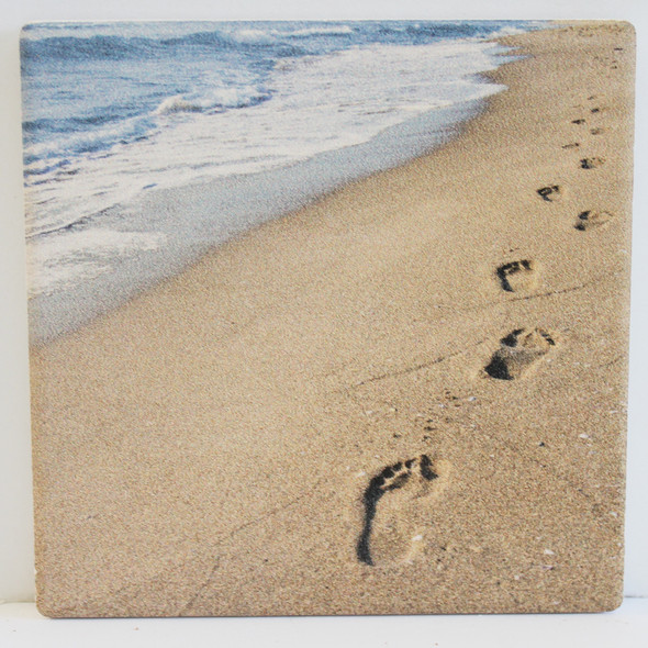 Footprints in the Sand Coaster