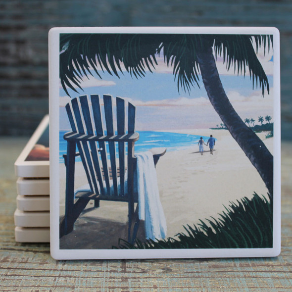 Adirondack Chair & Palm Tree Coaster