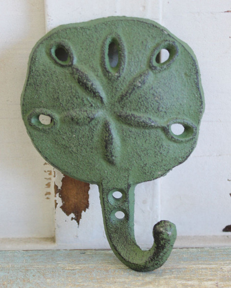 Green Sand Dollar Iron Hook