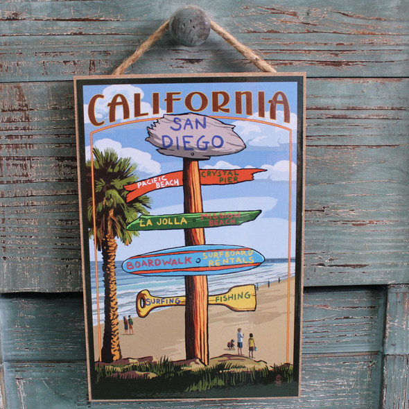 San Diego Destination Street Sign
