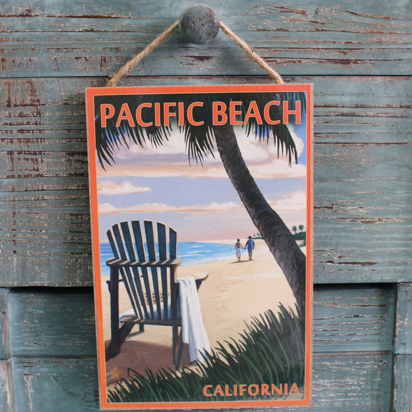 Adirondack Chair under Palm Tree Sign