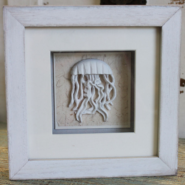 White Jellyfish Shadow Box