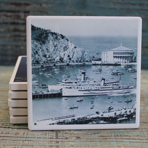 Catalina Island Vintage Black & White Photo