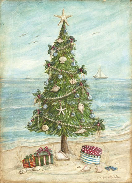 Beach Tree Christmas Card