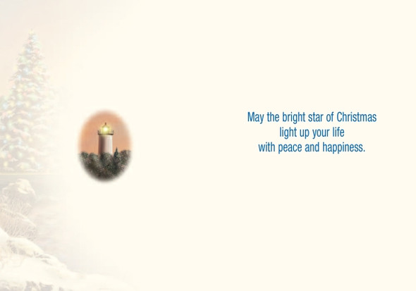 May the bright star of Christmas light up your life with peace and happiness.