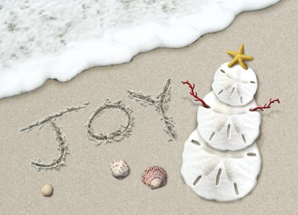 Joy Surf Christmas Card