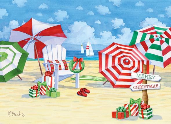 Holiday Beach Umbrellas Cards