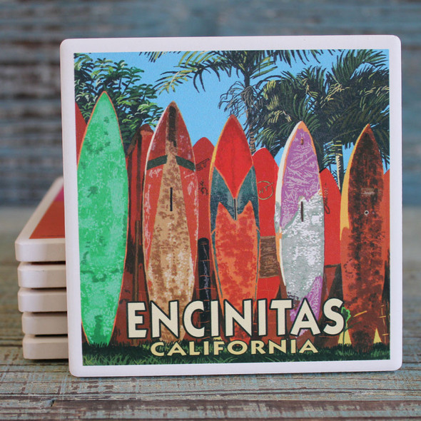 Encinitas Surfboard Fence Coaster