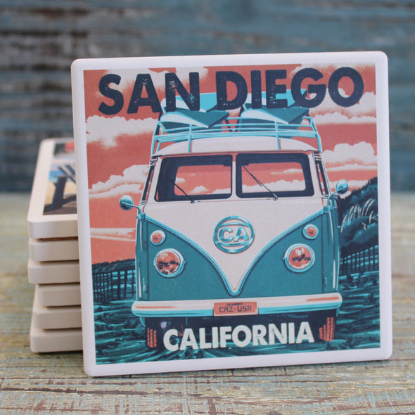 San Diego VW Bus Coaster