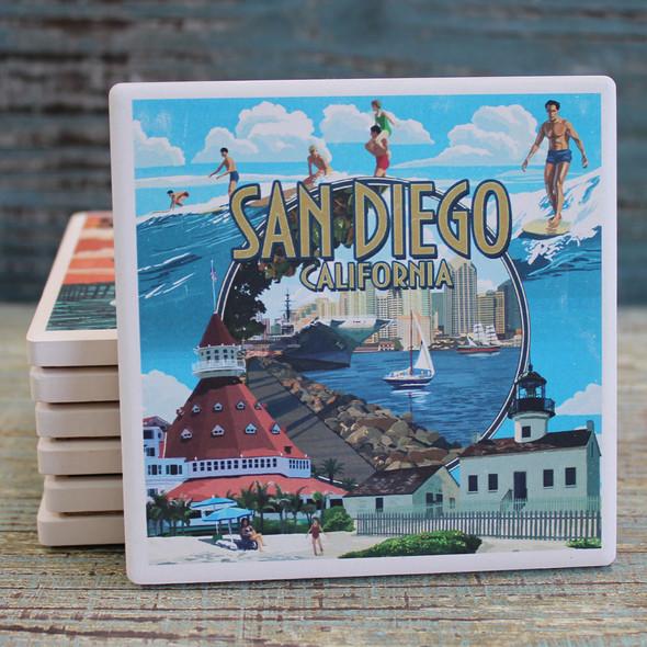 San Diego Montage Coaster
