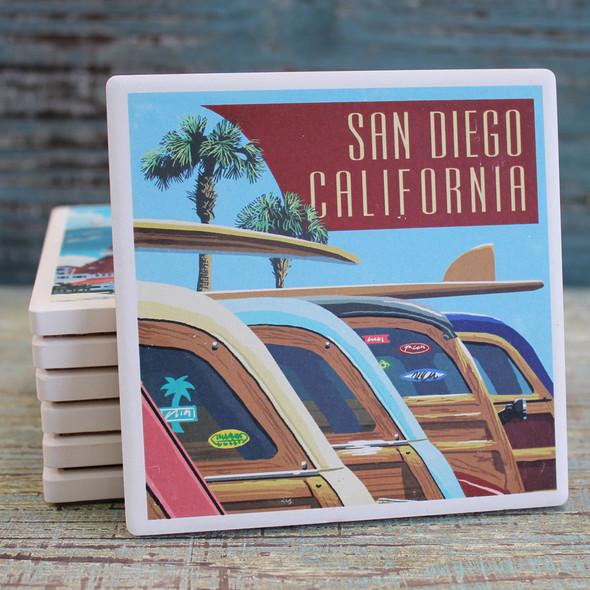 San Diego Woodies Coaster