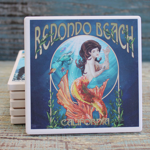 Redondo Beach Mermaid Coaster