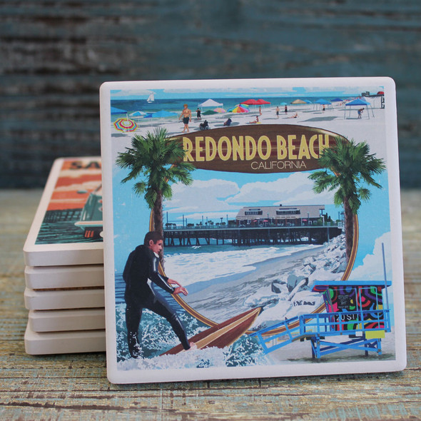 Redondo Beach Montage Coaster
