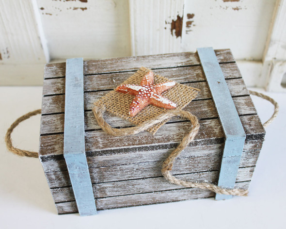 Large Chest with Starfish Rope and Burlap