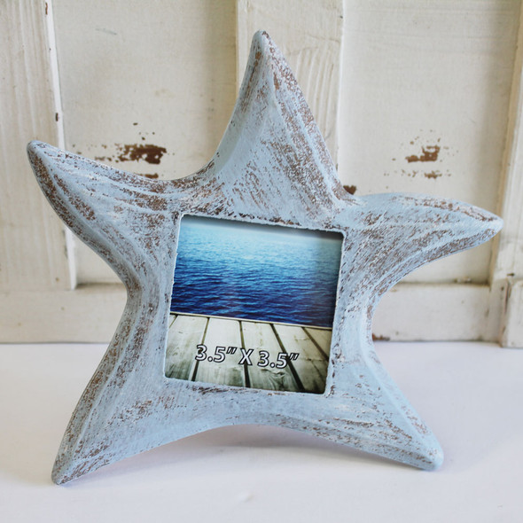 Blue Star Picture Frame