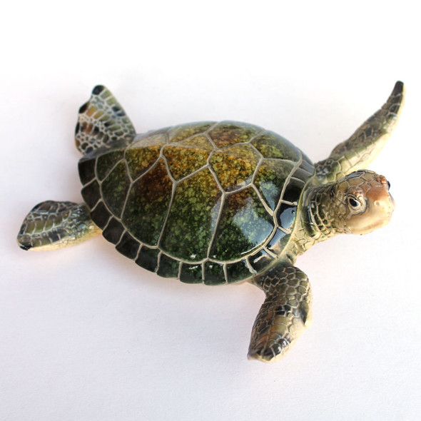 Large Green Sea Turtle figure