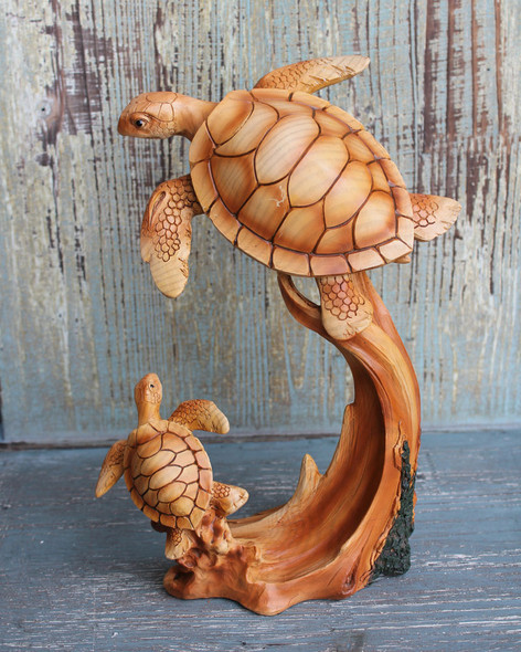 Mom and Baby Sea Turtle Figure