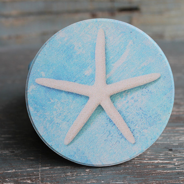 White Starfish Car Coaster